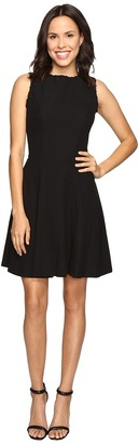 Christin Michaels - Keira Fit and Flare Dress with Whipstitch Detail Women's Dress $98 thestylecure.com
