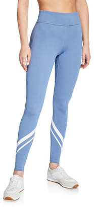 Tory Sport Chevron Melange High-Rise Pocket Leggings