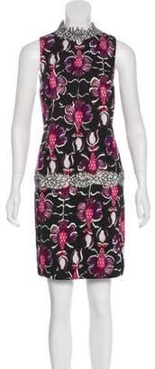 Wes Gordon Printed Sleeveless Dress
