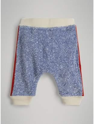 Burberry Logo Stripe Cotton Linen Sweatpants