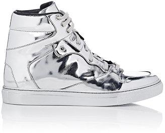 Balenciaga Women's High-Top Sneakers-SILVER $545 thestylecure.com