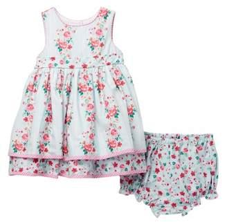 Laura Ashley Cotton Print Dress (Baby Girls)