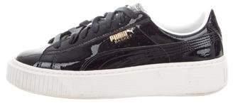 Puma Patent Leather Platform Sneakers