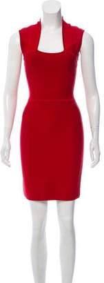 Herve Leger Sleeveless Mini Sheath Dress
