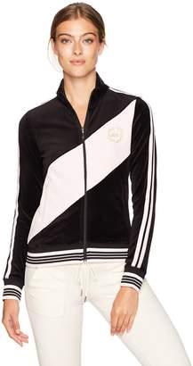 Juicy Couture Black Label Women's Velour Sporty Heritage Jacket