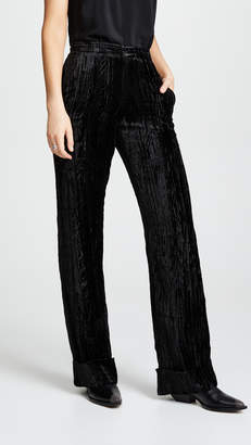 Jourden Crushed Velvet Trousers