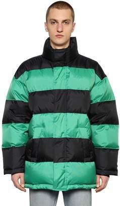 Balenciaga Striped Nylon Down Jacket