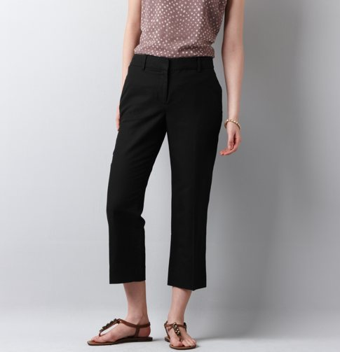 Ann Linen/Cotton Cropped Pants