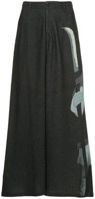 Yohji Yamamoto printed wide-leg trousers