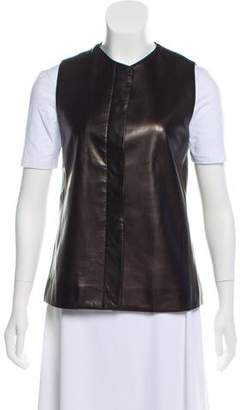 Private Label Sharis Place Mock Collar Button-Up Vest