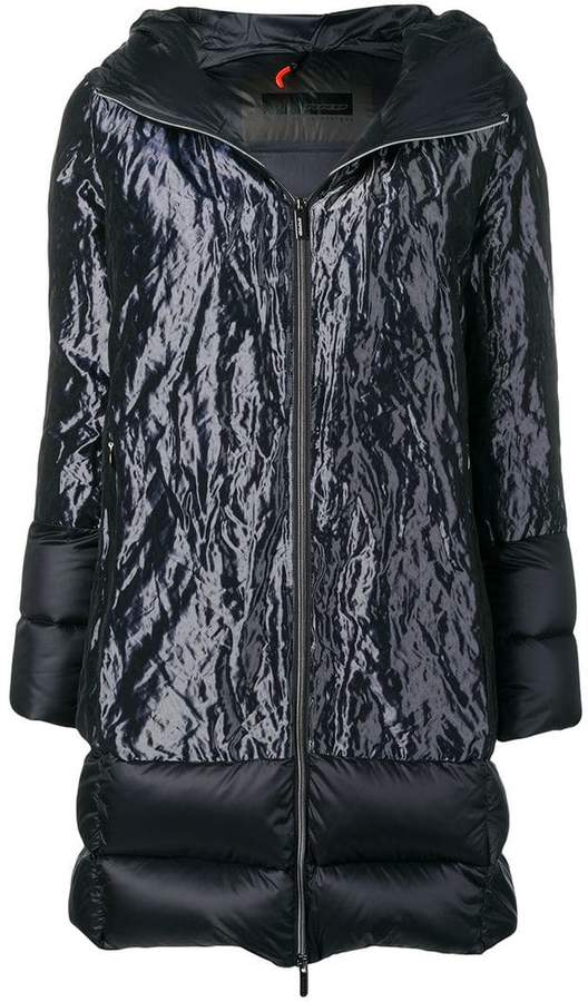 Rrd hooded panelled puffer jacket