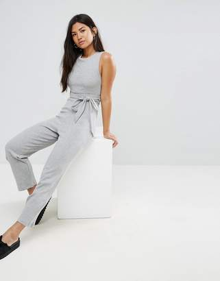 Asos Jersey Jumpsuit with Strapping Detail
