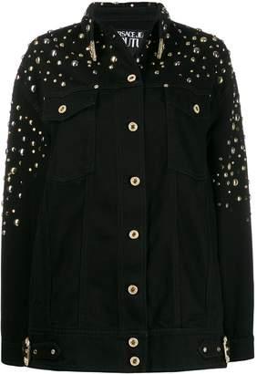 Versace oversized studded denim jacket
