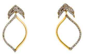 Farah Tanya 18K Diamond Peacock Earrings