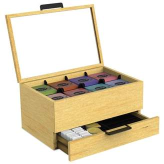 Mind Reader Tea Bag and Condiment Accessory Organizer, Blonde Wood 13 1/5x4 2/5x10 2/5