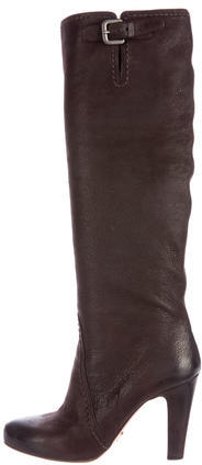 pradaPrada Buckle-Accented Leather Boots