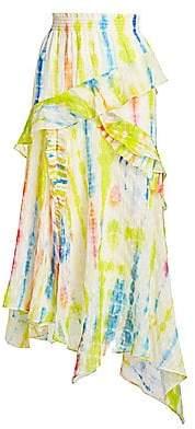 Tanya Taylor Women's Teresa Silk-Blend Asymmetric Midi Skirt - Size 0