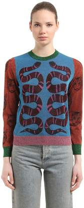 Gucci Double Snake Lurex Jacquard Sweater