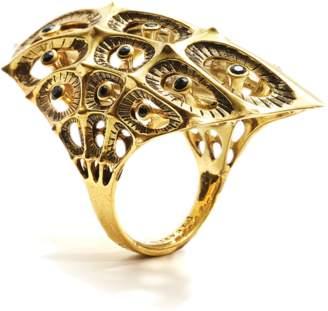 Black Diamond John Brevard Morpho Gold Ring