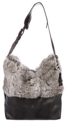 Henry Beguelin Peru Cold Fur-Trimmed Leather Bag