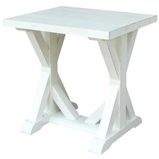 INC International Concepts Aspen Plank End Table - Seashell