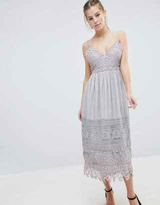 Oh My Love Lace Cami Midi Dress