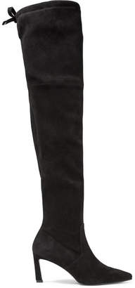 Stuart Weitzman Natalia Suede Over-the-knee Boots - Black