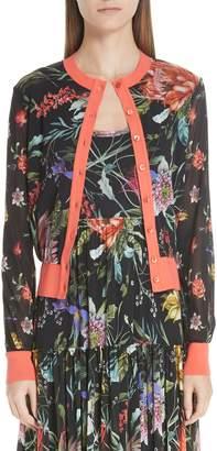 Fuzzi Floral Tulle Cardigan