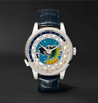Montblanc Heritage Spirit Orbis Terrarum Latin Unicef 41mm Stainless Steel And Alligator Watch