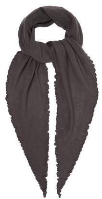 Allude - Fine Knit Cashmere Scarf - Womens - Charcoal