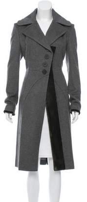 Zac Posen Wool Velvet-Trimmed Coat w/ Tags