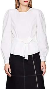 LES COYOTES DE PARIS Women's Fee Cotton Poplin Peplum Top - White