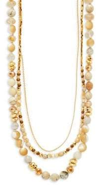 Chan Luu Agate and Sterling Silver Multi-Strand Necklace