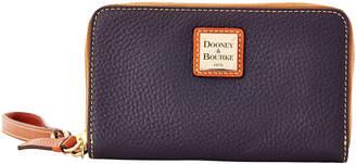 Dooney & Bourke Pebble Grain Zip Around Phone Wristlet