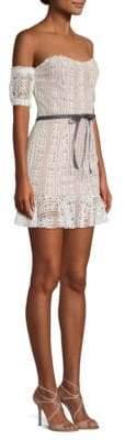 For Love & Lemons Dakota Lace Off-The-Shoulder Mini Dress