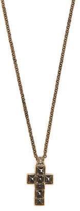 Gucci Cross Pendant Necklace - Mens - Black