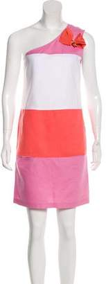 See by Chloe Colorblock One-Shoulder Dress
