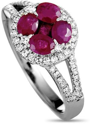 Generic Gemstones 14K 0.33 Ct. Tw. Diamond & Ruby Ring