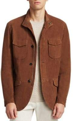 Saks Fifth Avenue COLLECTION Suede Field Jacket