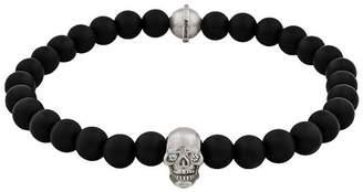 Snake Bones Sterling Silver Skull Bracelet