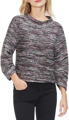 Vince Camuto Gathered Sleeve Marled Sweater