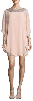 Xscape Evenings Chiffon Overlay Shift Dress