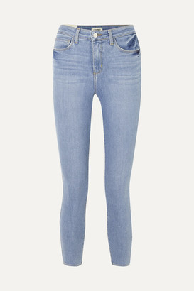 L'Agence Margot Cropped High-rise Skinny Jeans - Light denim