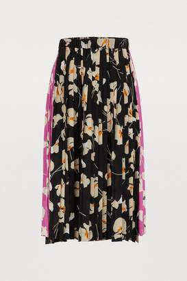N°21 N 21 Pleated silk midi skirt