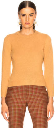 Acne Studios Long Sleeve Crew Top in Camel Brown | FWRD