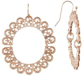 Melrose and Market Filigree Open Circle Dangle Earrings