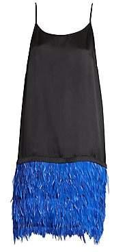 Dries Van Noten Women's Feather Skirt Slip Dress