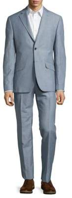 Hardy Amies Two-Piece Pic-Stitched Suit