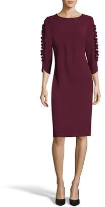ECI Ruffle Sleeve Sheath Dress