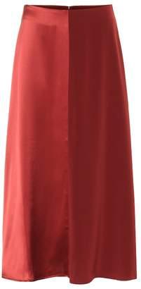 Co Satin and crepe midi skirt